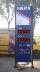 LED prijzenbord Halma te Den Andel